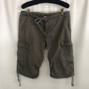 Prana women's cargo side cinch Bermuda shorts 10